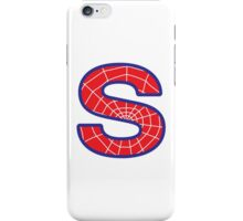 S letter in Spider-Man style iPhone Case/Skin