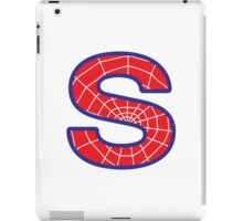 S letter in Spider-Man style iPad Case/Skin