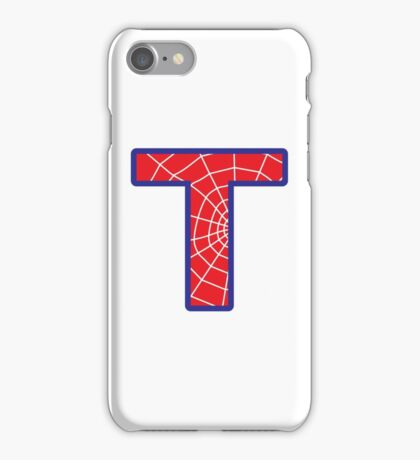 T letter in Spider-Man style iPhone Case/Skin