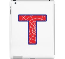 T letter in Spider-Man style iPad Case/Skin