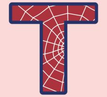 T letter in Spider-Man style One Piece - Long Sleeve
