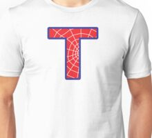 T letter in Spider-Man style Unisex T-Shirt
