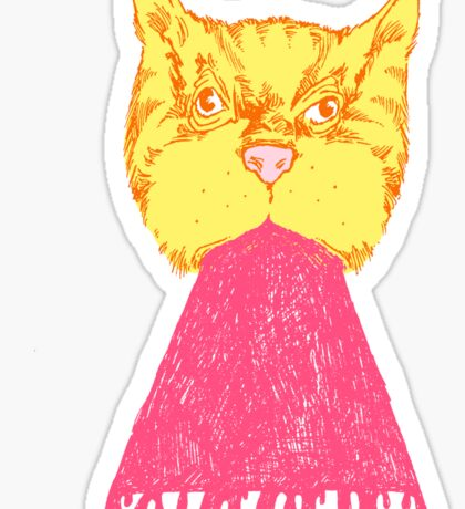 Pink Cat Vomit Sticker