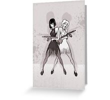 Velma and Roxie Greeting Card