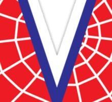 V letter in Spider-Man style Sticker