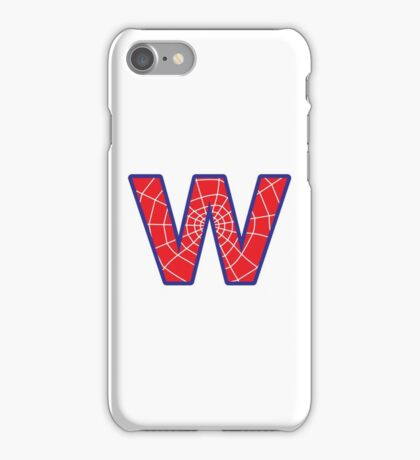 W letter in Spider-Man style iPhone Case/Skin