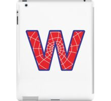 W letter in Spider-Man style iPad Case/Skin