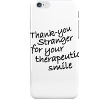 THANK YOU STRANGER iPhone Case/Skin