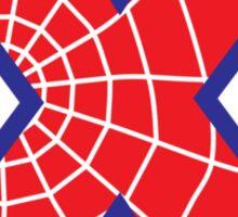 X letter in Spider-Man style Sticker
