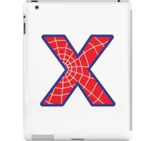 X letter in Spider-Man style iPad Case/Skin