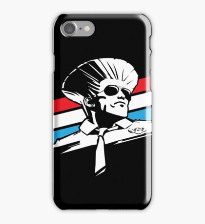 Street Fighter - GUILE - USA STRIPES iPhone Case/Skin