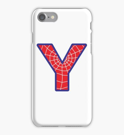 Y letter in Spider-Man style iPhone Case/Skin