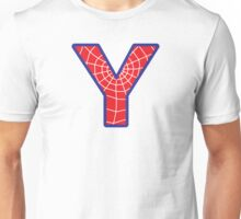 Y letter in Spider-Man style Unisex T-Shirt
