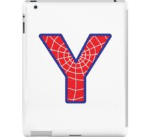 Y letter in Spider-Man style iPad Case/Skin