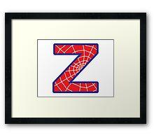 Z letter in Spider-Man style Framed Print