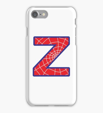 Z letter in Spider-Man style iPhone Case/Skin
