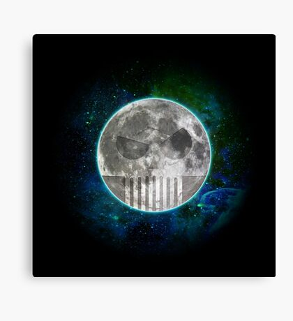 Skull Moon Canvas Print