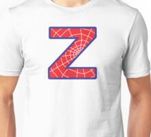 Z letter in Spider-Man style Unisex T-Shirt
