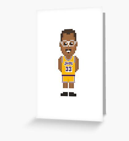 Kareem Abdul-Jabbar - Los Angeles Lakers 85' Greeting Card