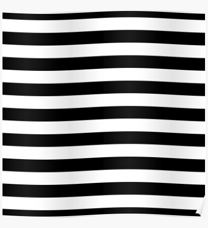 Black and white stripes pattern Poster