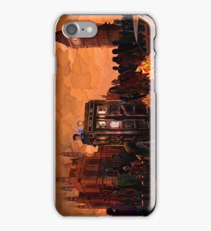 time and space traveller trapped in the zombie land iPhone Case/Skin