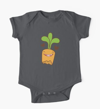 half eaten happy carrot One Piece - Short Sleeve