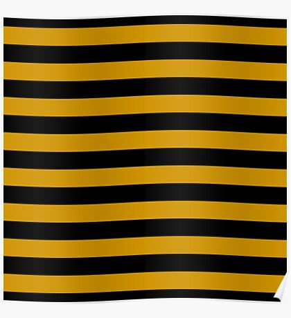 Bee stripes pattern Poster