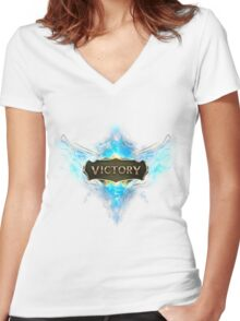 League of Legends victory Women's Fitted V-Neck T-Shirt