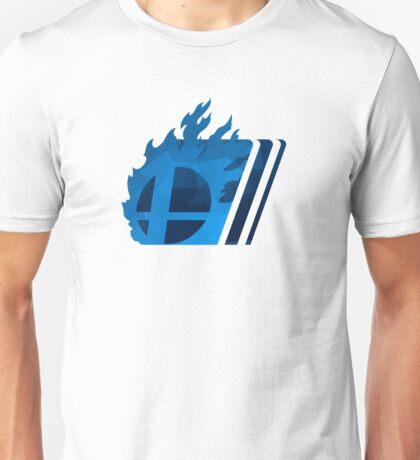 Simple Smash. Blue Unisex T-Shirt