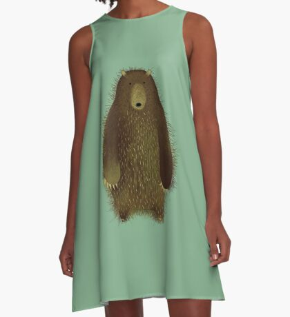 Barnsley the Big Bear. A-Line Dress