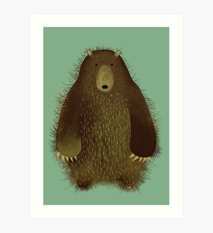 Barnsley the Big Bear. Art Print