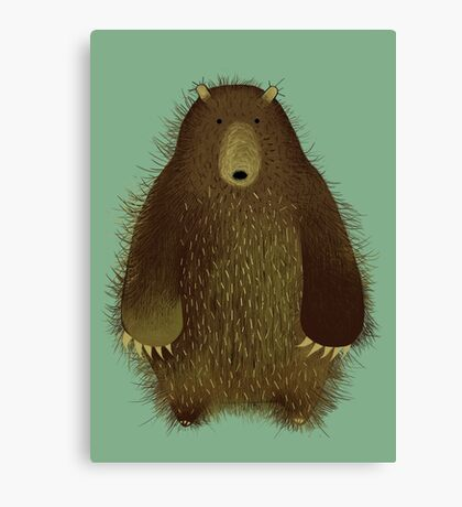 Barnsley the Big Bear. Canvas Print