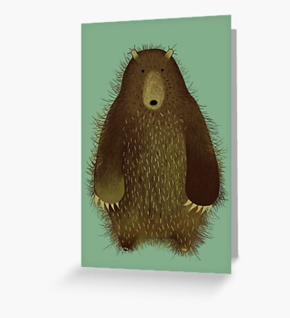 Barnsley the Big Bear. Greeting Card