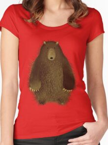 Barnsley the Big Bear. Women's Fitted Scoop T-Shirt