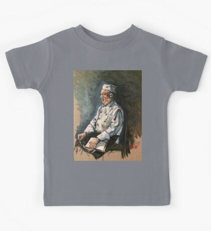 """Tommy the chef. 16x20"""" oil on linen on board.  Kids Tee"""