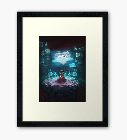 Digital heart Framed Print