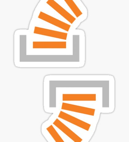 Stack Overflow Icon (Double Sticker) Sticker