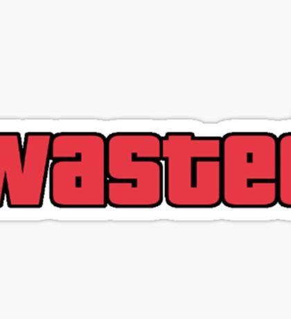 Wasted - GTA San Andreas Sticker