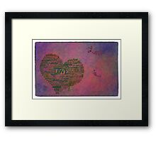 Love is poster with white frame Framed Print