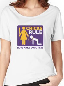 Women Power: Men are good pets Women's Relaxed Fit T-Shirt