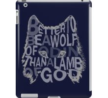 better be a wolf of odin than a lamb of god (2) iPad Case/Skin