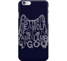 better be a wolf of odin than a lamb of god (2) iPhone Case/Skin