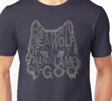 better be a wolf of odin than a lamb of god (2) Unisex T-Shirt