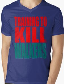 Training to KILL WALKERS Mens V-Neck T-Shirt