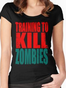 Training to KILL ZOMBIES Women's Fitted Scoop T-Shirt