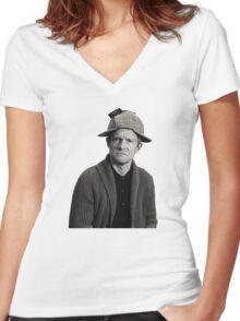John - Deerstalker Women's Fitted V-Neck T-Shirt