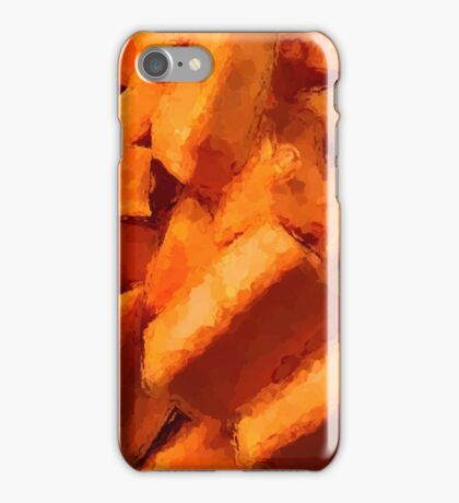 Orange Sweet Potato Pieces iPhone Case/Skin