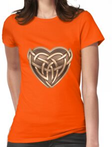 Celtic Heart Womens Fitted T-Shirt