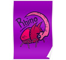 R is for Rhino Poster