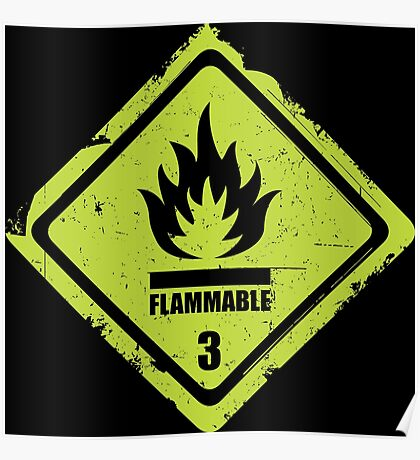 Flammable Sign Poster
